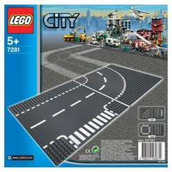 LEGO: City - Płytka - drogi (łuki) LEG7281