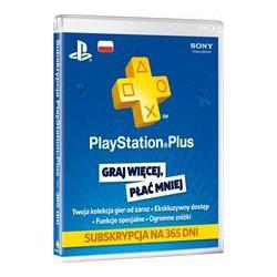 Karta - 1-roczne członkostwo PlayStation Plus [PS+] NOWA