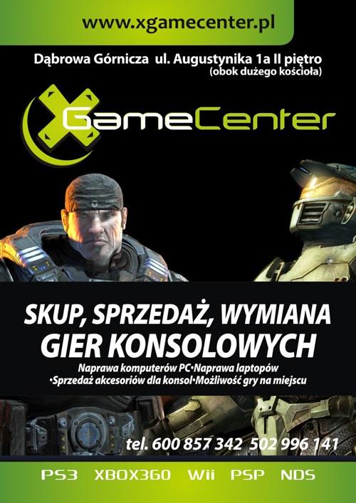 plakat xgamecenter - wymiana gier Dąbrowa Górnicza, wymiana gier Śląsk