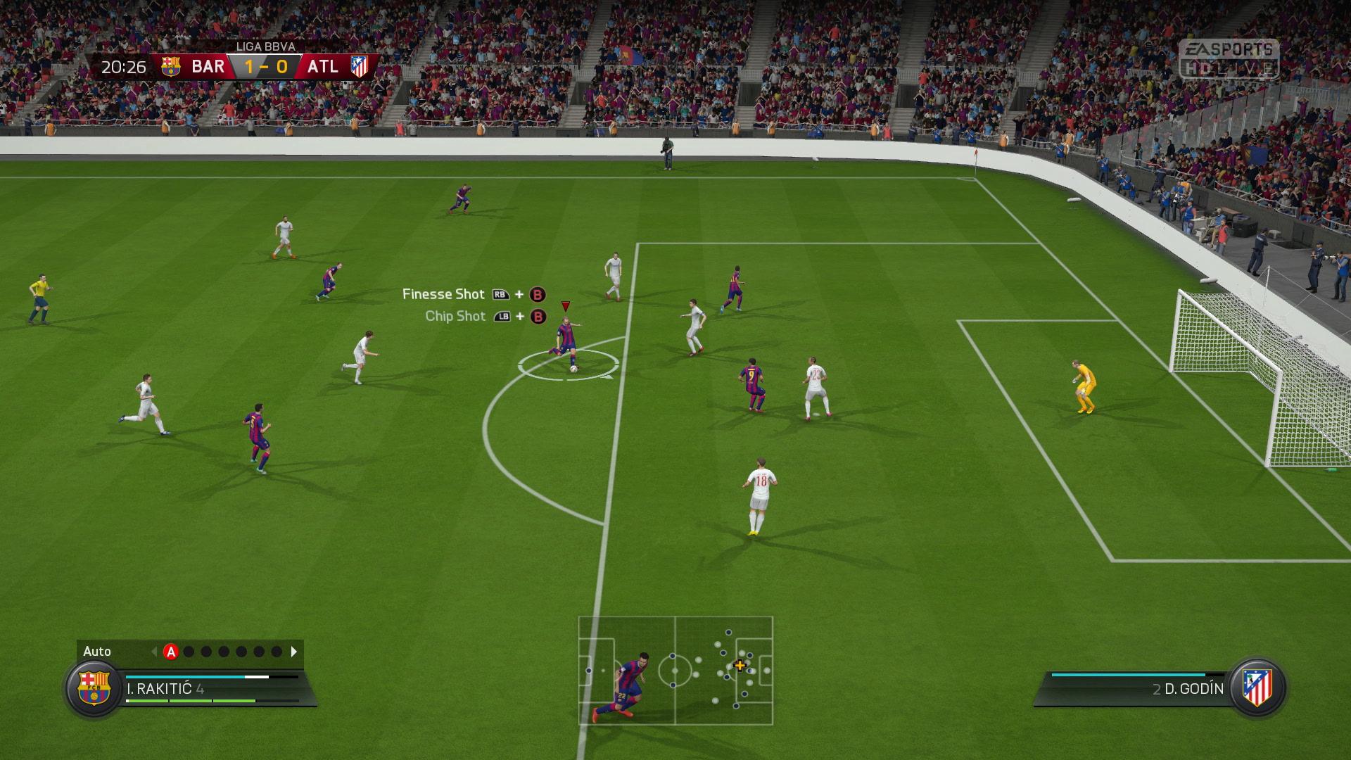 FIFA16 XboxOne PS4 LiveCapture FIFATrainer Shoot screen xgamecenter